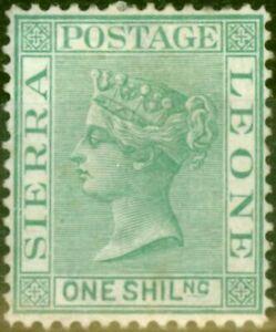 Sierra Leone 1876 1s Green SG22 Fine Mtd Mint