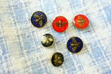 100% Gucci buttons lot 6 bees 3 types ❤💜💙❤
