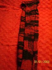 Red & Black-7 ft.-Scarf-Knit-Winter-Cold Weather-Unisex