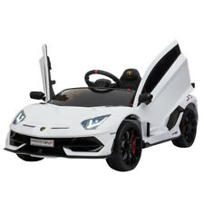 12V Lamborghini Aventador SV J Kids Electric Ride on Car w/MP3,AUX,LED - White