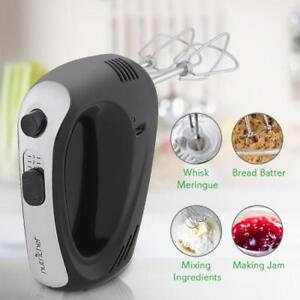 Nutrichef PKHNDMX32 Cordless 3-Speed Hand Mixer w Built-in Rechargeable Battery