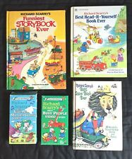 Richard Scarry Vintage Lot Children's Books, Videos