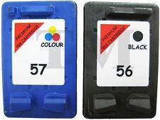 56 Black & 57 Colour NON-OEM Ink Cartridges For HP PSC 1215 Printers