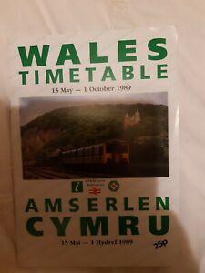 British Rail Wales Timetable 1989