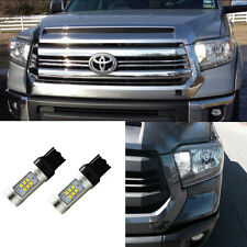Xenon White Parking DRL Turn Signal LED + Resistor For 2015 2016 2017 Tundra
