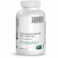 Bronson Magnesium Citrate with Vitamin B-6, 250 Tablets