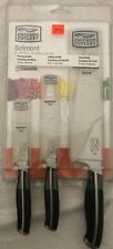 New Chicago Cutlery 3 Piece Belmont Paring Utility Cheif Kitchen Sharp Knife Set