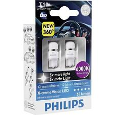 Genuine Philips 6000K T10 W5W LED Bulbs for Side Markers / Park Lamp Cool White