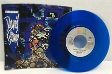 David Bowie 45 RPM Limited Edition Blue Vinyl Blue Jean Dancing with the Boys VG