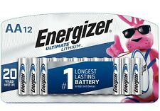 12 Energizer AA L91 Ultimate Lithium Batteries- Factory Packing/Brand New!