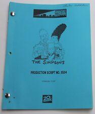 The Simpsons * 1995 Original TV Show Script * Season 9, Episode 19, Simpson Tide