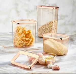 Set of 4 Containers Airtight Food Storage Kitchen Accessories Copper