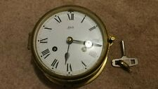 Brass Schatz Ships Clock With Key, Works, Great Clock!