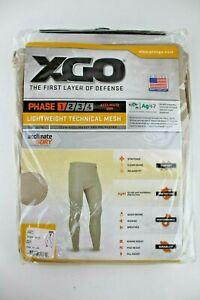 XGO Men's Base Layer Tights Pants Lightweight Tech Mesh Snowboard Skiing Phase 1