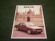 November 1986 / 1987 Model PEUGEOT 505 V6 SALOON - UK LEAFLET BROCHURE
