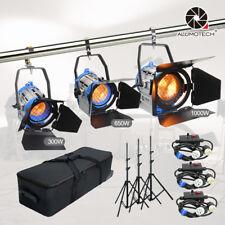 300W+650W+1000W As Arri Pro Film Fresnel Tungsten Spot light +case+Air standsKit