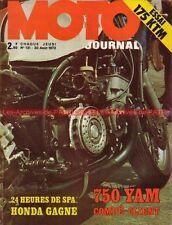 MOTO JOURNAL  131 KTM 175 Enduro YAMAHA TZ 24H SPA Grand Prix de Finlande 1973