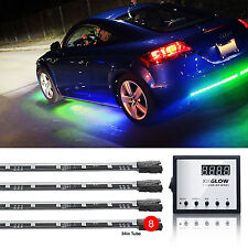 3 Million Color 8pc LED Under Car Glow Underbody Neon Lights Kit Remote Control