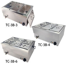 3/4/6 Pots Electric Bain Marie Commercial  Food Warmer Wet & Well Heat Catering