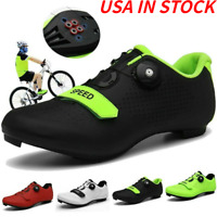 Professional Road Cycling Shoes Mens Bicycle SPD Shoes Indoor Bike Peloton Shoes