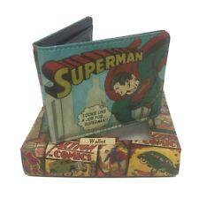 Genuine DC Comics 'Vintage Superman' Outside Print Bi-Fold Wallet Boxed Gift