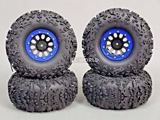 "Traxxas TRX-4 Rock CRAWLER  Beadlock Wheels & TIres 140mm 5.5""  -Set Of 4- BLUE"