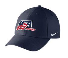 USA Hockey Nike Dri-FIT Wool Classic Adjustable Velcro Cap Hat