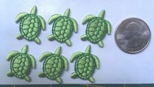 Turtle embroidery patches heat-seal iron-on sea turtle appliques (lot of 6 pcs.)