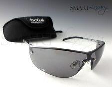 Bolle Silium Smoke Metal Frame Sports UV Protection Safety Sunglasses Hard Case
