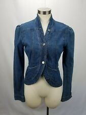 Hussein Chalayan Denim Jacket Size 44 L Cotton Button Down Womens Made In Italy