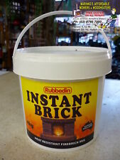 WOOD HEATER Fire Place INSTANT BRICK 4kg Tub Brand New