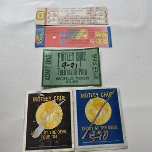 🔥motley crue shout at the devil tour '84 original   backstage passes + Tickets