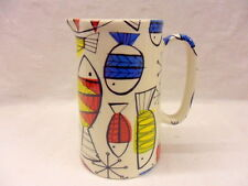 Retro fish one pint pitcher jug by Heron Cross Pottery