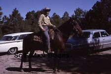 KODACHROME 35mm Slide Cowboy Hat Boots Horse Saddle Old Classic Cars 1964!!!