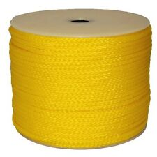 "T.W . Evans Cordage 3/8"" By 250-Feet Hollow Braid Polypro Rope Yellow"