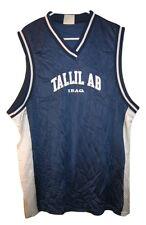 Tallil AB Air Force Base Iraq Jersey T Shirt Nylon Mesh Blue Mens Tank Top M