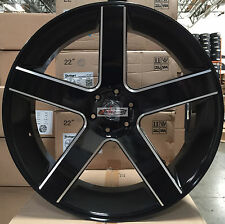 22 Wheels Tires Rims Black Milled Concave Escalade Sierra Denali Baller Style 24
