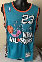 NBA All Star Game Jersey Michael Jordan Uniform 1996  Teal Size M