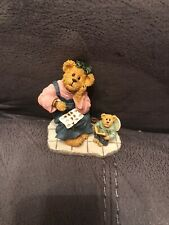 """""""Momma with Taylor.Patience is a Virtue� Boyds Bears Bearstone Figurine w/Box"""
