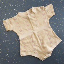 Vintage Baby One Piece Snap Crotch Scotty Dog Yellow 50s 60s Baby 3 6 months