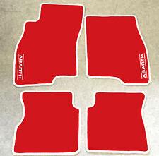 Autoteppich Fußmatten für Fiat Grande Punto Abarth 199 rot weiss Velours Neu