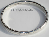 Tiffany & Co Sterling Silver 1837 Oval Bracelet Bangle