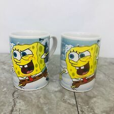 Set of 2 > Spongebob & Patrick VTG Viacom  2007 Coffee Tea Mugs Cups