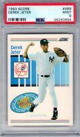 "1993 Score #489 "" Derek Jeter "" PSA 9 RC {HOF 2020 99.7%}  Yankees ""The Captain"""