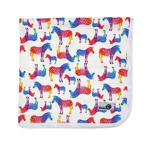 Waterproof Mat Minky Change mat, Bed mat Mini picnic rug Reusable Rainbow Zebra