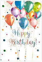 Female Birthday Card ~ Contemporary Balloons By Simon Elvin Free P&P