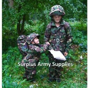 KIDS ARMY HELMET WITH DPM/BTP/BLACK COVER + FREE DESERT COVER WITH ANY CHOICE