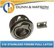 316 Round Stainless Flush Finger Pull Ring (hatch Latch Boat Caravan Marine)