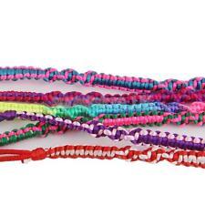 6pcs Men & Women Ankle Cuff Friendship Bracelets Twist Knot Hand Woven Boho