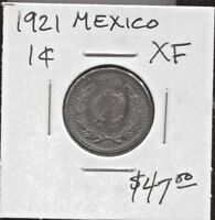 MEXICO - BEAUTIFUL HISTORICAL  BRONZE 1 CENTAVO, 1921 (GOOD DATE), KM# 415